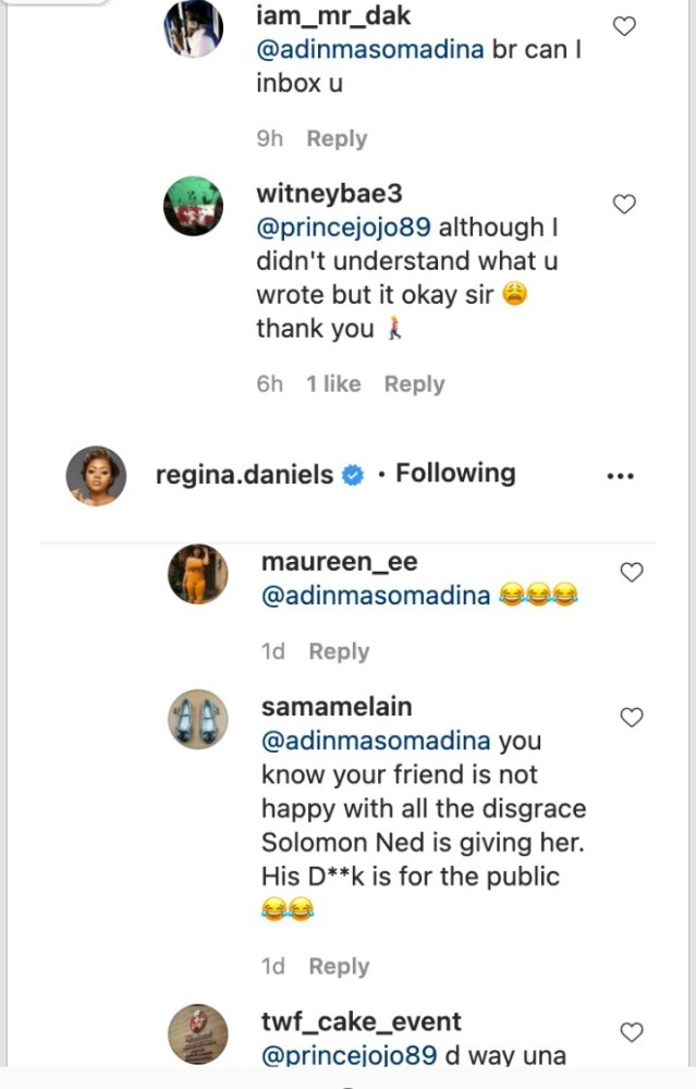 Screenshot_20201226-181725-639x1000 You Need To Leave Her Alone, She Is Married Now & Life Goes On' – Somadina's Recent Comment About Regina Daniels' Post Causes Stir
