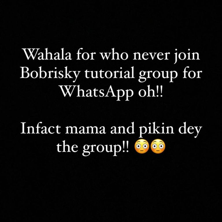 """135109333_971309816610894_1187757600343973147_n Nigerians React as Over 250 Young Ladies Join """"Bobrisky Advice 2021"""" WhatsApp Group In Less Than 24Hrs including Mom and Daughter"""
