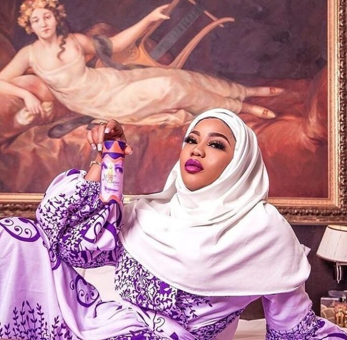 166255416_271024347821260_7184522853544314292_n Toyin Lawani Releases Photo Of Herself In $e.xy Muslim Outfit After Being Dragged Over Her Racy Nun Photos