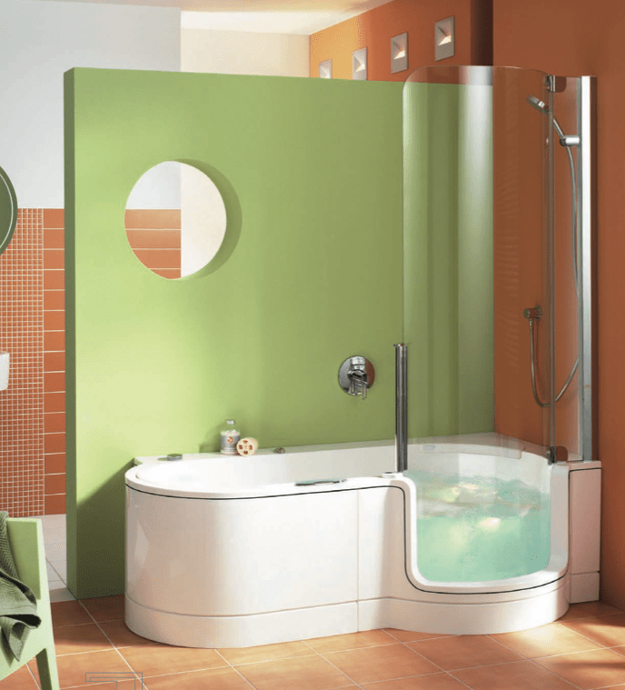 Twin Line Walk In Bathtub And Shower Combo