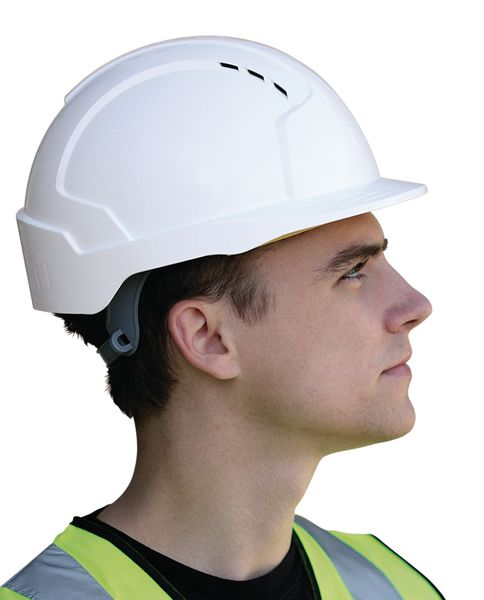 Engineer wearing JSP UK Helmet