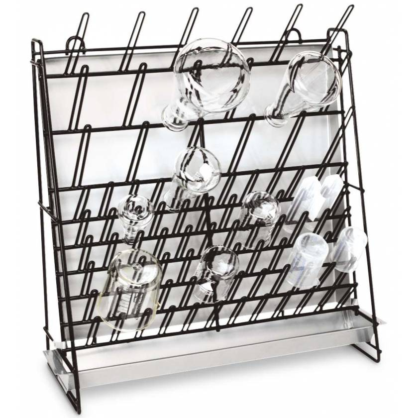 glassware wire drying rack for test tubes beakers flasks and other labware