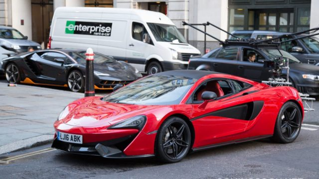 Filming of'Transformers: The Last Knight' in Central London Featuring: Lamborghini Where: London, United Kingdom When: 11 Sep 2016 Credit: WENN.com