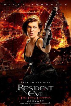resident evil final chapter poster