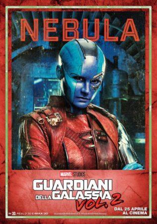 guardiani galassia 2 poster italiano nebula