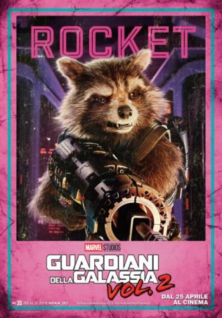guardiani galassia 2 poster italiano rocket raccoon