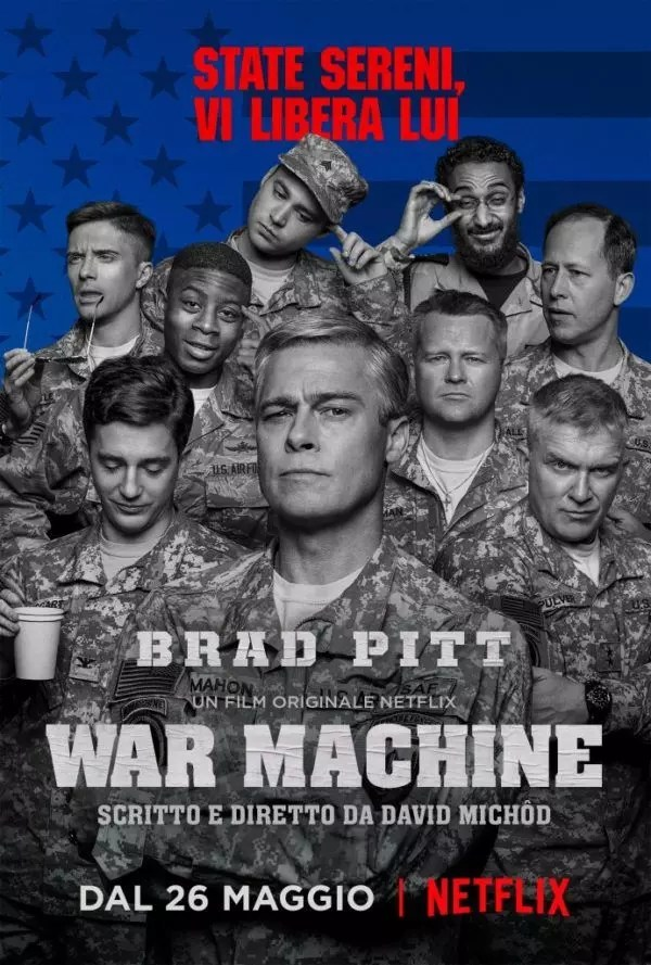 war machine netflix poster e trailer