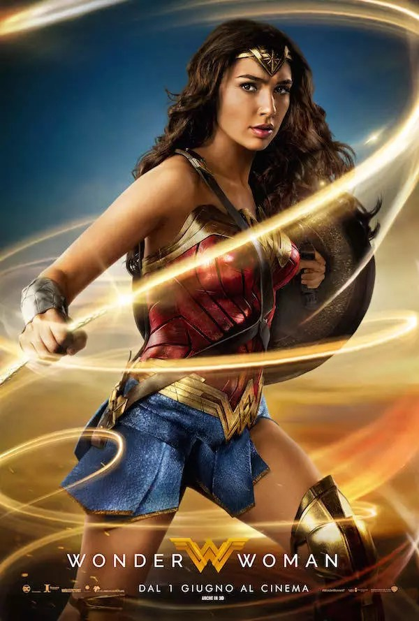 wonder woman poster italiano