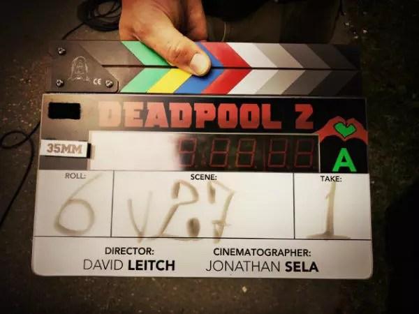 deadpool 2 primo ciak