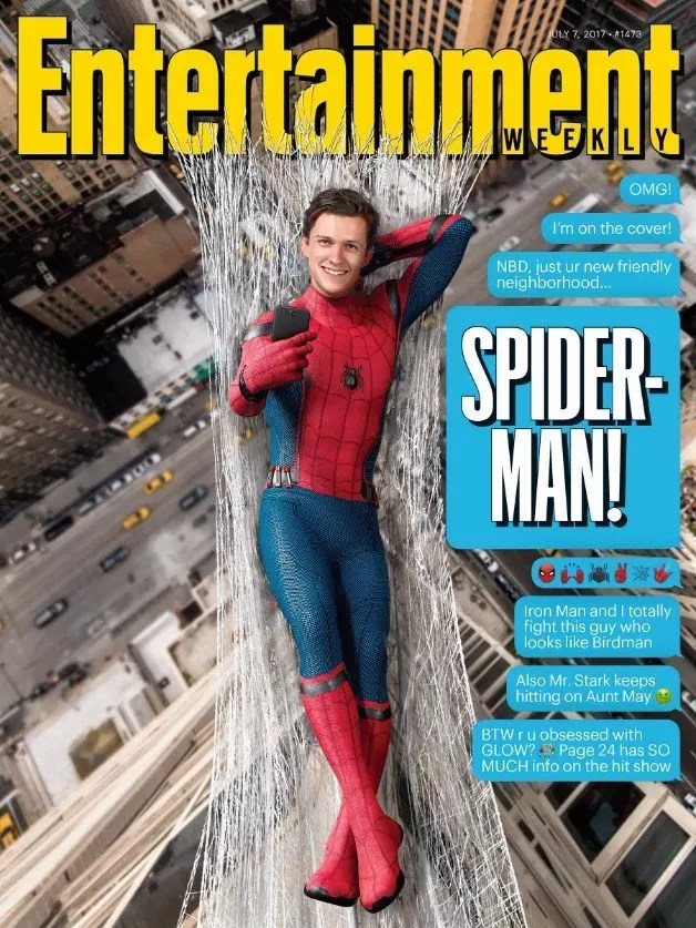 spider-man homecoming cover ew