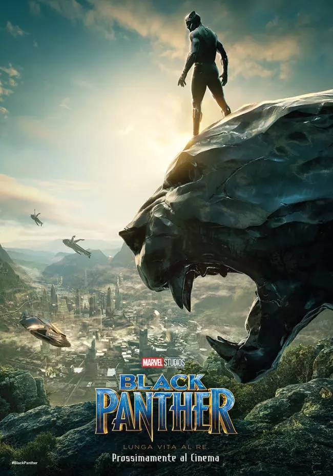 black panther poster ita