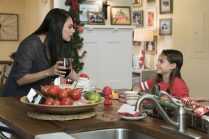 Amy's House with Mila Kunis and Ariana Greenblatt in A BAD MOMS CHRISTMAS