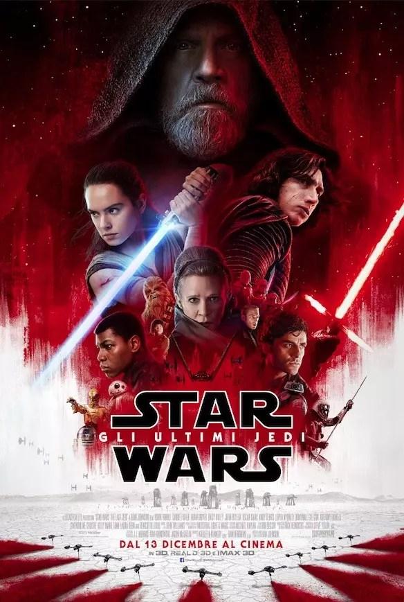 star wars gli ultimi jedi poster ita