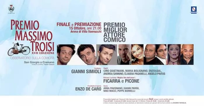 [Premio Massimo Troisi] Con Ficarra e Picone e Angelo Pintus si chiude la XVII edizione