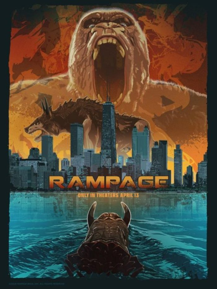 Rampage - Furia Animale (poster)