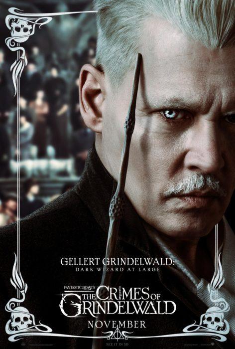 Il cast di Animali Fantastici: I Crimini di Grindelwald nei 9 characters poster