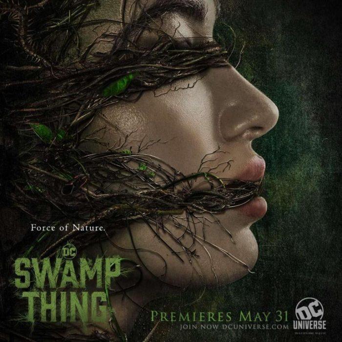 Due inquietanti poster da Swamp Thing, la serie tv in live action