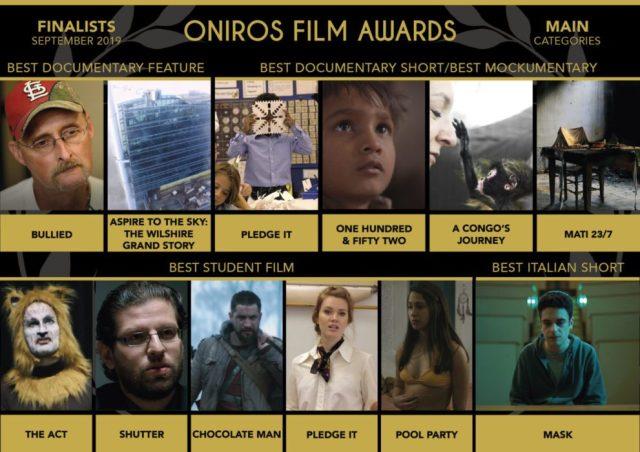 Oniros Film Awards: Ecco i finalisti del concorso Settembre 2019