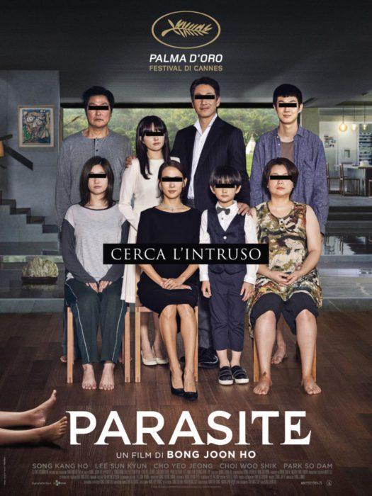 parasite film poster italiano