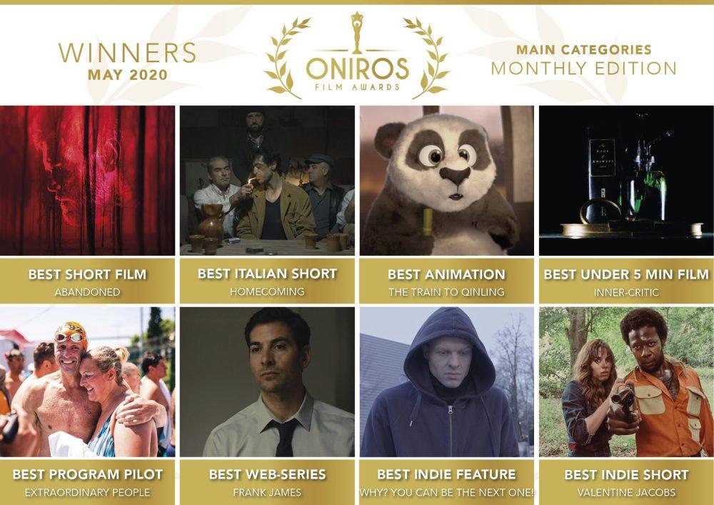 Oniros Film Awards: La lista dei vincitori del concorso Maggio 2020