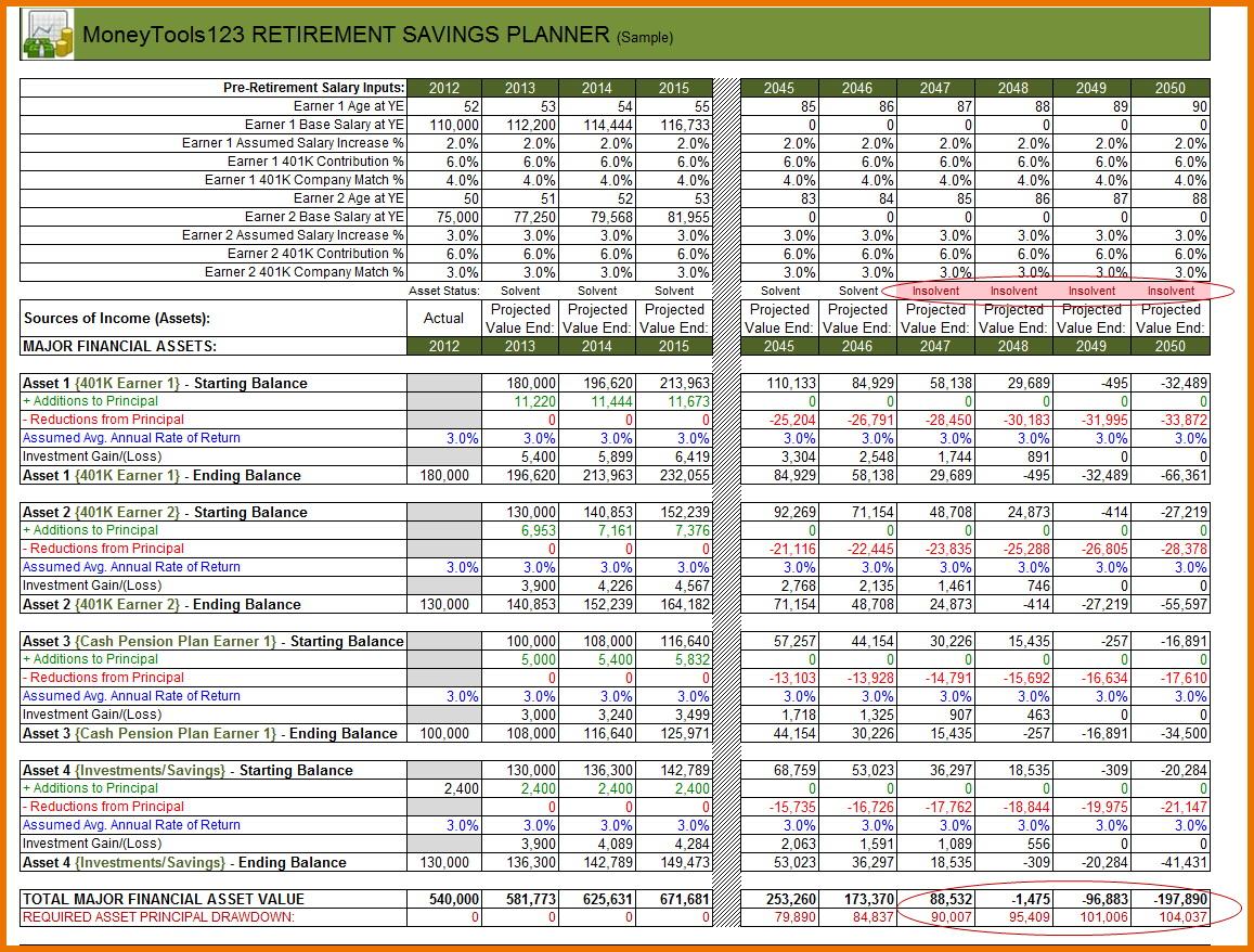 Divorce Property Division Worksheet Excel