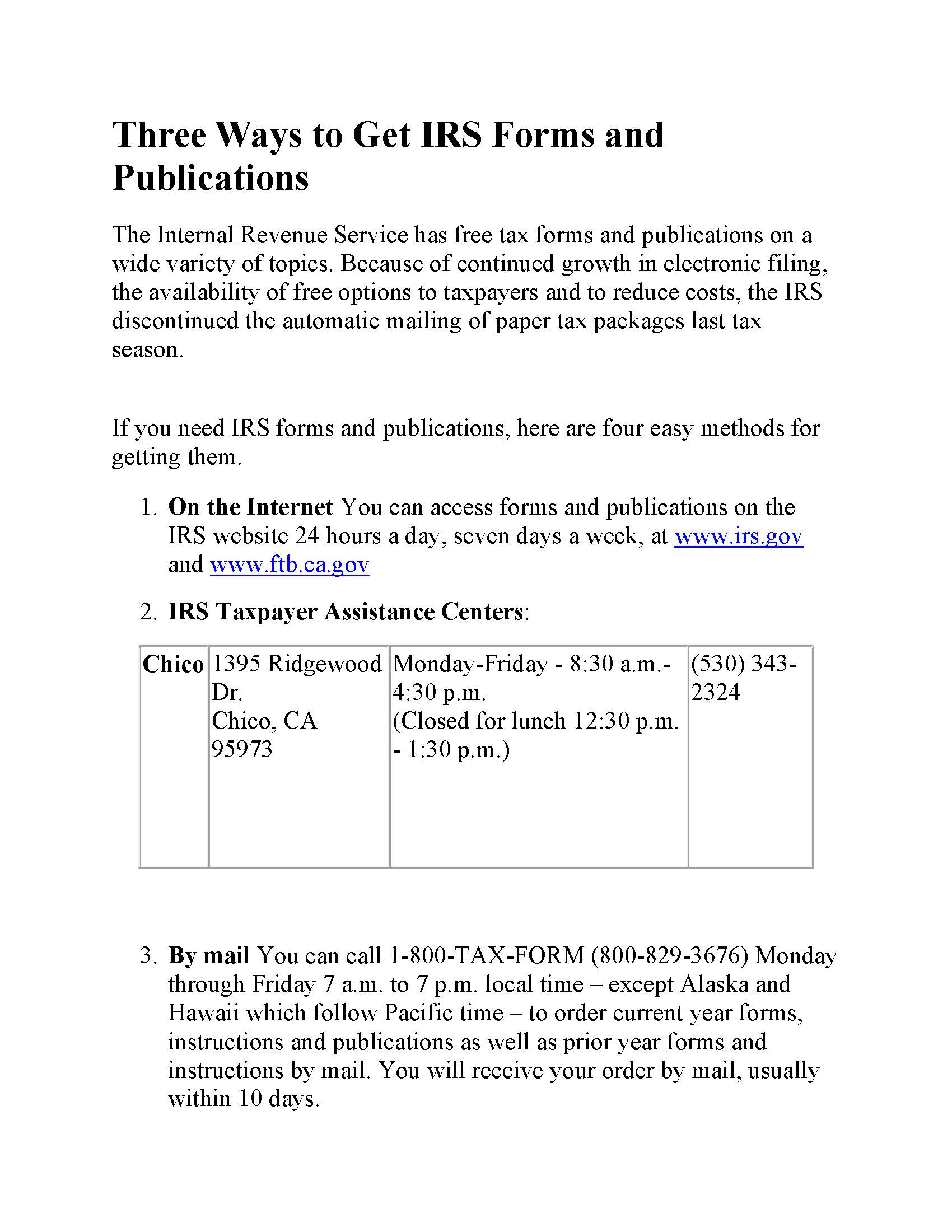 Irs Gov Under Forms And Publications