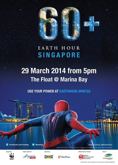 Earth Hour Spiderman 2014
