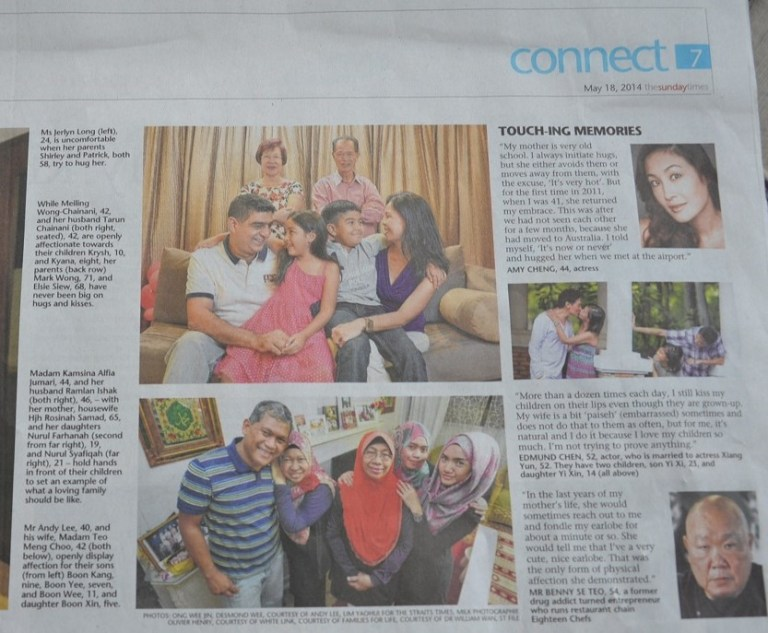 Featured in The Sunday Times Connect – Hugs or Yikes?