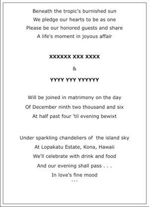 Destination Wedding Invitation Set