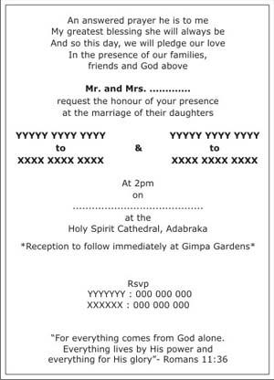 Invitation Wordings Wedding