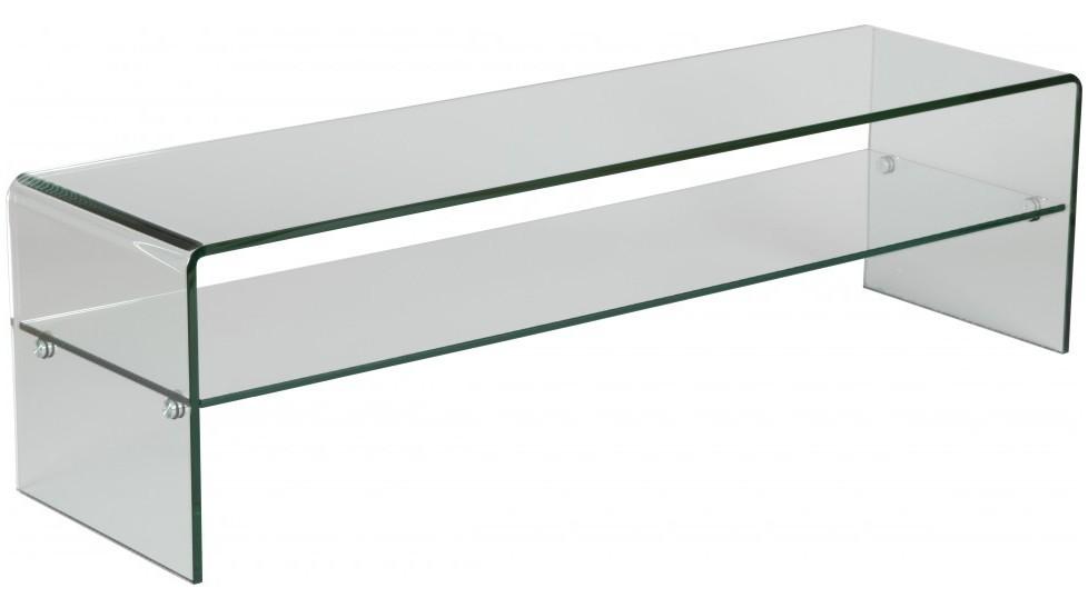 meuble tv en verre courbe