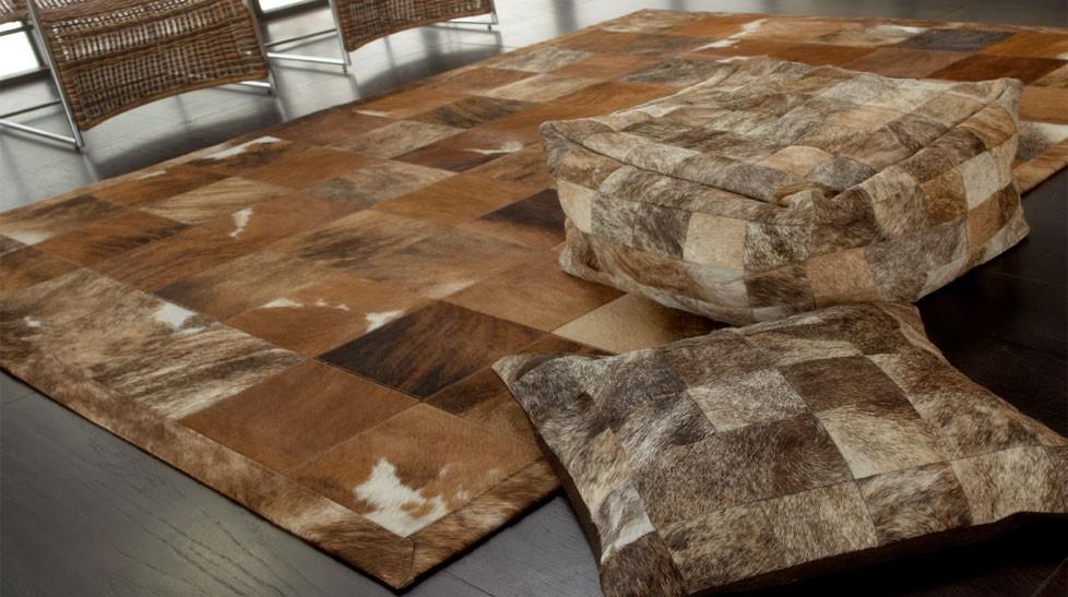 tapis peau beige haut de gamme metador