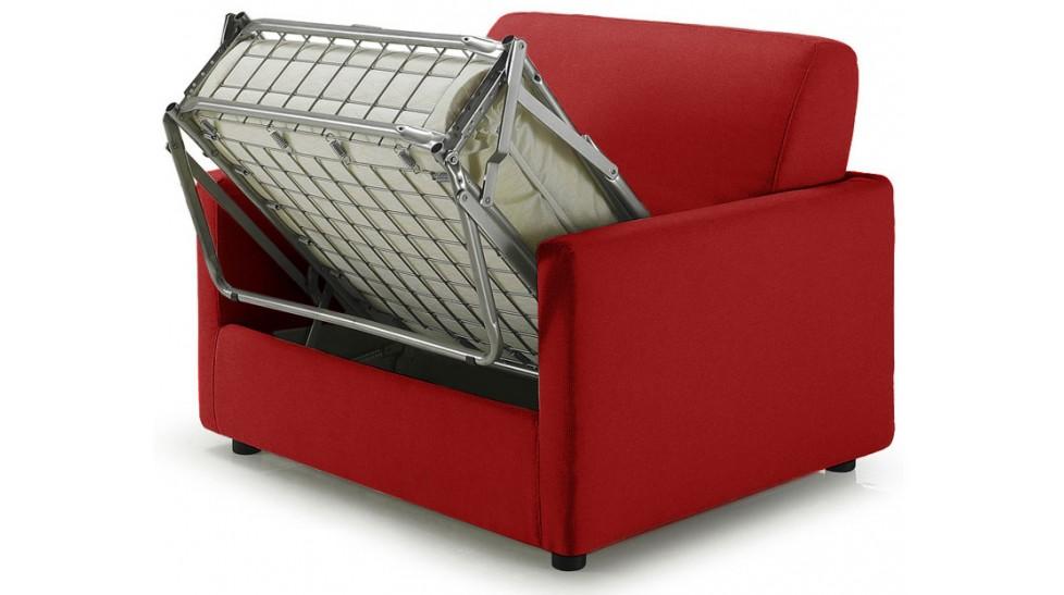 fauteuil lit convertible tissu rouge david