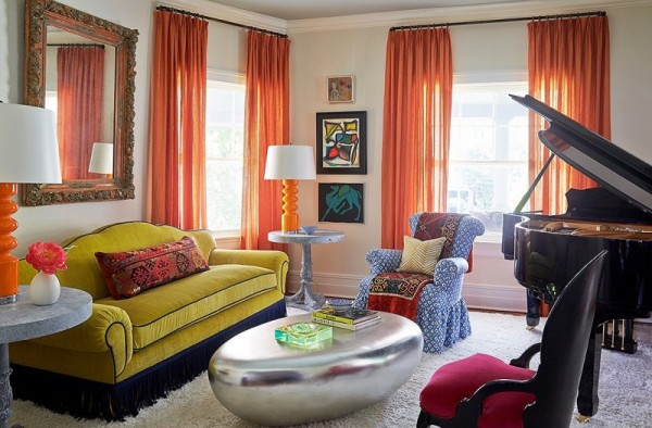 Colored Mix And Match Curtains