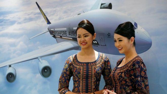 Singapore Airlines decorates its Planes Interior