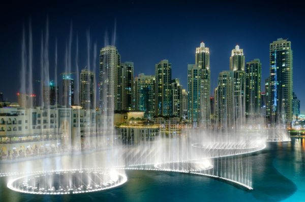 water fountain show dubai