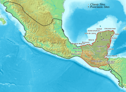 The extent of the Mayan empire