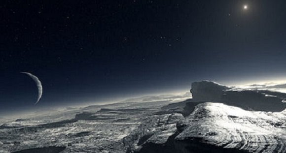 An artist's concept of frosty Pluto. Credit: ESO/ L. Calçada