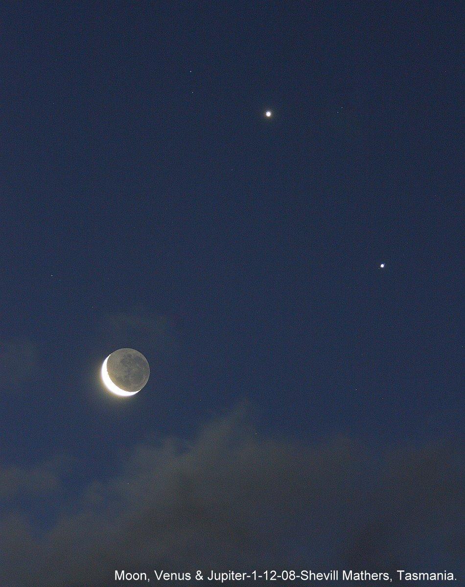 Moon, Venus and Jupiter Dazzle on December 1 » Universe Today