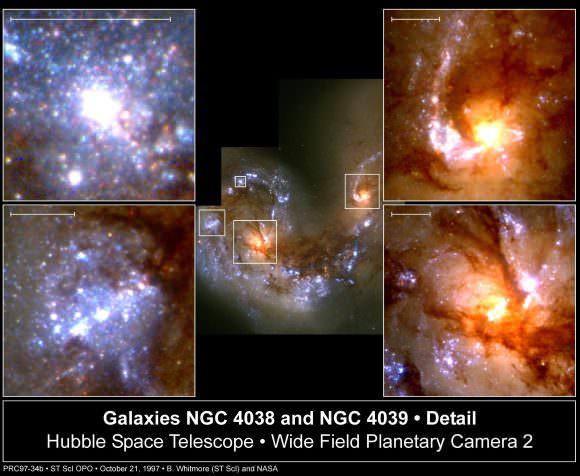 Dos galaxias están enfrentándose en Corvus y aquí están las últimas fotos .. Crédito: B. Whitmore (STScI), F. Schweizer (DTM), de la NASA
