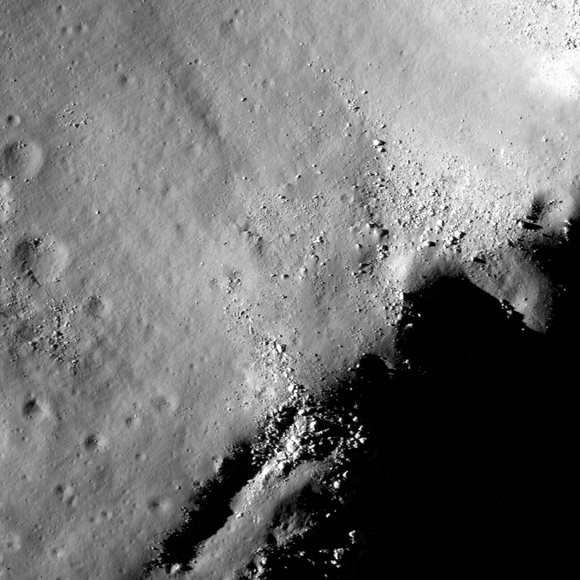 "Tsiolkovskiy Crater from LROC. Click for larger ""Zoomifiable"" version. Credit: NASA/GSFC/Arizona State University"