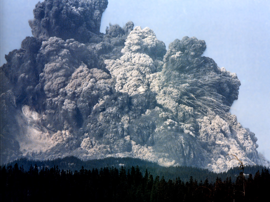 Mt. St. Helens on May 18th, 1980