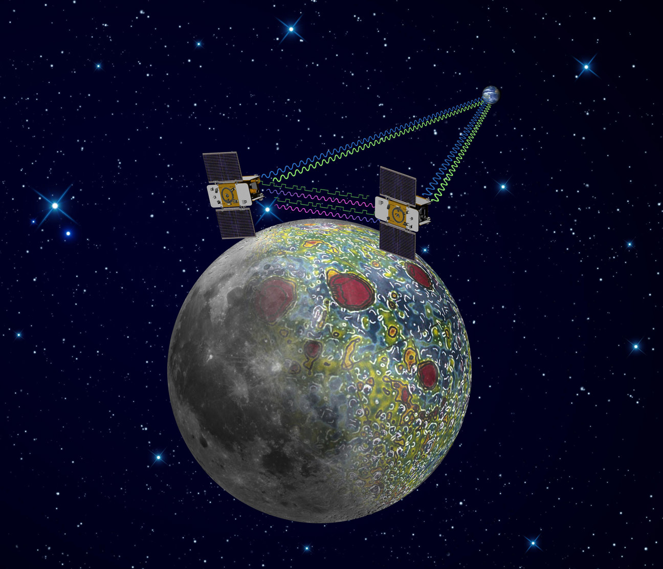Twin Nasa Science Probes Start Lunar Gravity Mapping