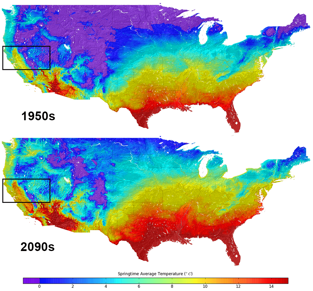 New U S Climate Map Shows Temperature Changes In Hd How