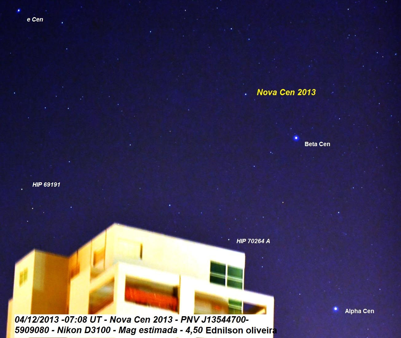 Nova Centauri 2013 | Gilberto Klar Renner - Sky & Telescope