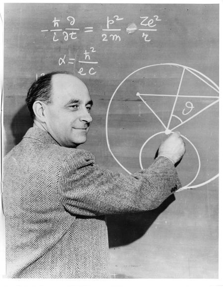 Nuclear physicist Enrico Fermi won the 1938 Nobel Prize for a technique he developed to probe the atomic nucleus. He led the team that developed the world's first nuclear reactor, and played a central role in the Manhattan Project that developed the atomic bomb during World War II. In the debate over extraterrestrial intelligence, he is best known for posing the question 'Where is everybody?' during a lunchtime discussion at Los Alamos National Laboratory. His question was seen as the basis for the