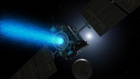 An artist's illustration of NASA's Dawn spacecraft approaching Ceres. Image: NASA/JPL-Caltech.