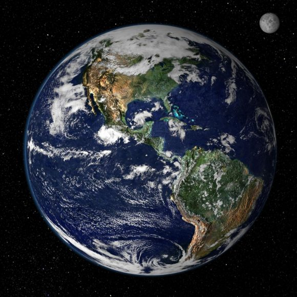 Is Earth in the range of normal when it comes to habitable planets? Or is it an outlier, with both large land masses, and large oceans? Image: Reto Stöckli, Nazmi El Saleous, and Marit Jentoft-Nilsen, NASA GSFC
