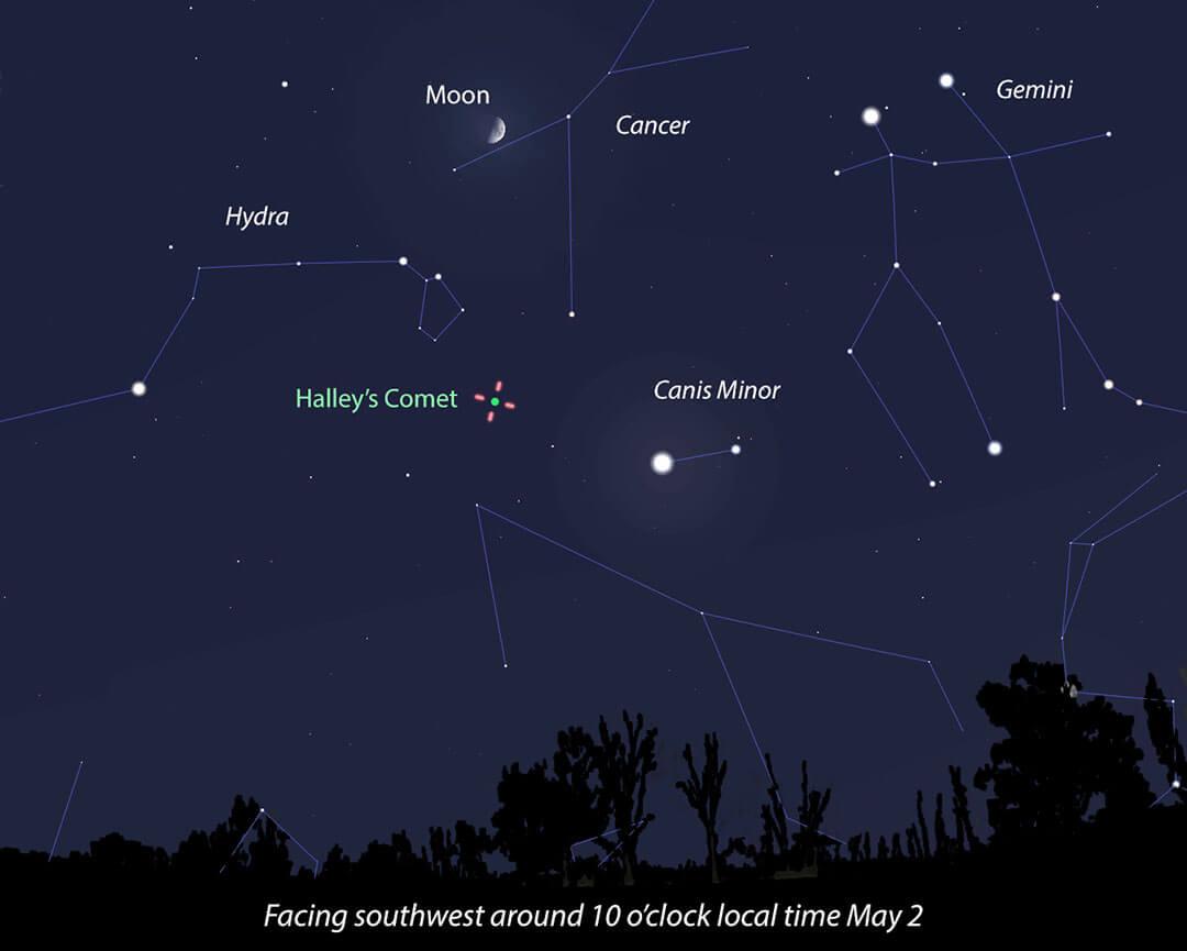 Comet Halley Plays Bit Part In Weekend Eta Aquarid Meteor