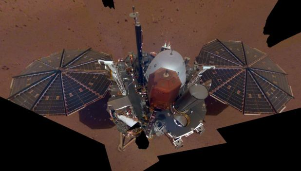 The first full selfie of InSight on Mars. The selfie was taken on December 6 and is a mosaic of 11 images taken with his Instrument Implementation Camera on the elbow of his robotic arm. Image credit: NASA / JPL-Caltech